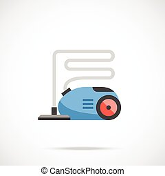 Vacuum cleaner flat vector icon - Vacuum cleaner icon Vector...