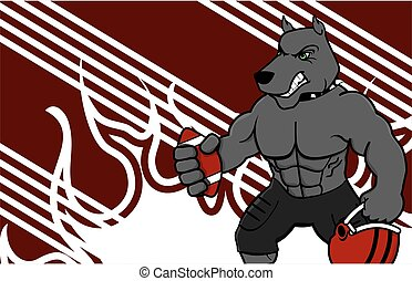 muscle dog american football card - muscle dog american...