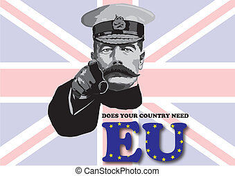 EU poster - Parody of wartime poster with message relating...