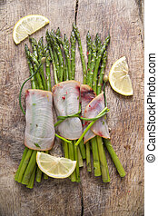 Asparagus with swordfish - Second course of swordfish and...