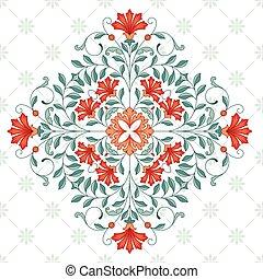 Vintage rhombus pattern for design. 10 eps.