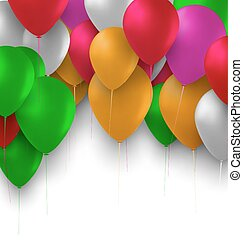 Birthday Background with Colorful Balloons for Your Party