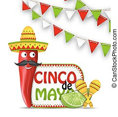 Holiday Celebration Background for Cinco De Mayo -...
