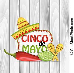 Holiday Greeting Background for Cinco De Mayo - Illustration...
