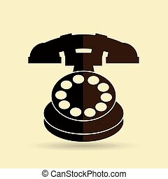 old phone design - old phone design, vector illustration...