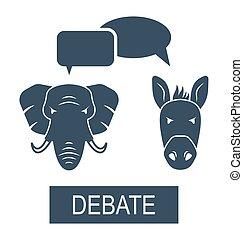 Concept of Debate Republicans and Democrats