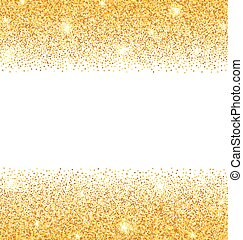Abstract Golden Sparkles on White Background. Gold Glitter...