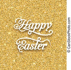 Abstract Easter Card with Hand Written Phrase - Illustration...