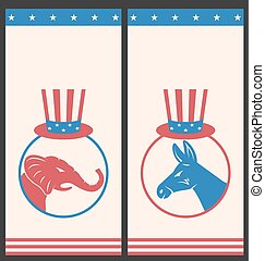 Banners for Advertise of United States Political Parties