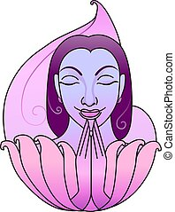 yoga women posing - Illustration of yoga women posing