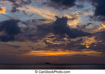 Sunset in Koh Phangan, Thailand - Wonderful sunset over the...