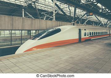 TAICHUNG -TAIWAN,AUGUST 12 2013: Taiwan High Speed Rail...