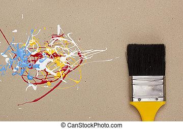 muestras, de, Pintura, de, diferente, colores,