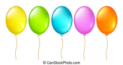 baloons set, this illustration may be useful as designer...