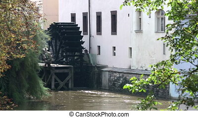 Waterwheel mill in Prague Czech Republic - Waterwheel mill...