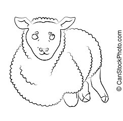 black and white image of a sheep