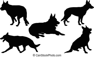 German Shepherd Silhouette Collecti