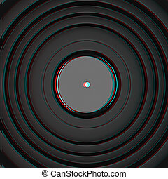 Web camera lens. 3D illustration. Anaglyph. View with red/cyan glasses to see in 3D.