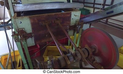 vintage machine mechanism at factory - agriculture,...