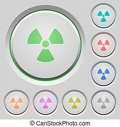 Radiation push buttons