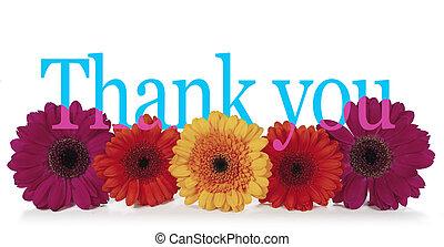 dizendo, tu, flores, agradecer