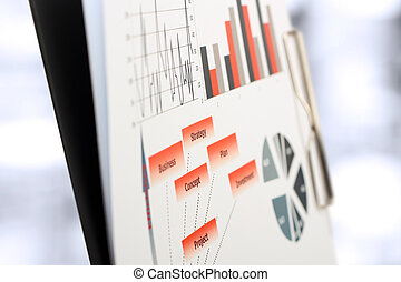 Graphs, charts, marketing research - colorful graphs,...