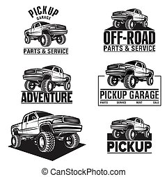 car truck 4x4 pickup off-road logo - Vector illustration car...