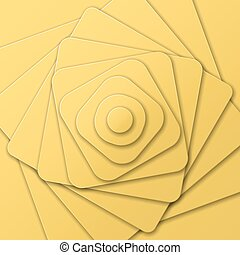 Layered pyramid of figures in Optical Art, view from top -...