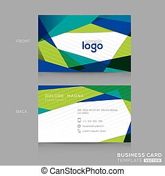 Abstract Business card Design Template