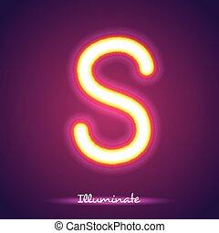 letter illumination