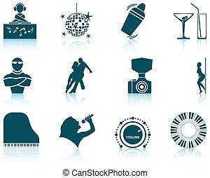 Set of Night club icons - Set of twelve Night club icons...