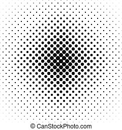Repeating black and white vector circle pattern