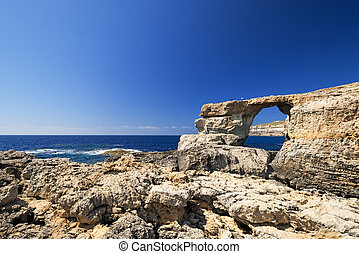 Azure Window Gozo Malta - Azure Window, famous stone arch of...