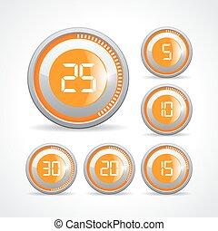 Timer buttons