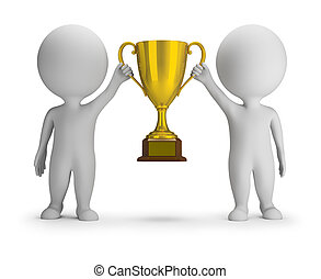 3D Small People - Two Winners - 3d small people - two...