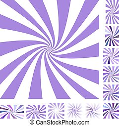 Purple spiral background set - Purple and white vector...