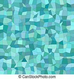 Teal color irregular rectangle mosaic background - Teal...