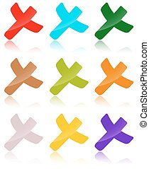 colored crosses collection - collection of colored crosses...