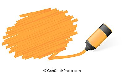 highlighter with marking - orange colored high lighter with...