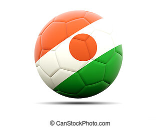 Football with flag of niger 3D illustration