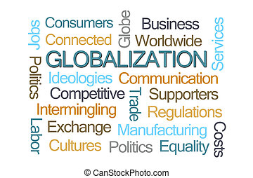 Globalization Word Cloud on White Background