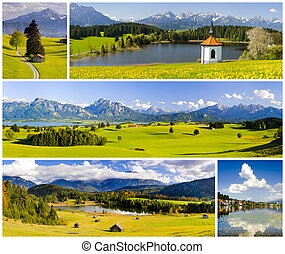 Collage of panorama landscape - Collage of beautiful...