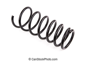 car spring - Black car spring isolated on white background