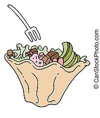 Tostada Salad Mexican Food