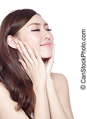Beauty woman with charming smile - Beauty woman charming...