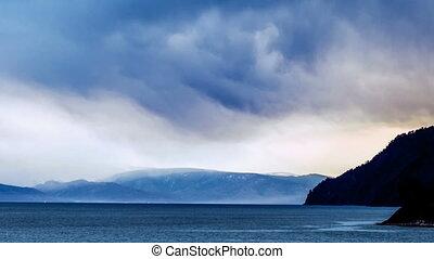 Mountain lake landscape Time lapse - Mountain lake landscape...