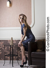 elegant rich woman