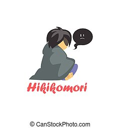 Hikimori Cartoon Style Icon - Hikimori Cartoon Style Flat...