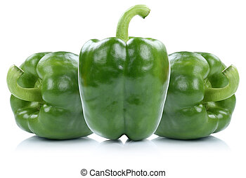 Green bell pepper peppers paprika paprikas vegetable...