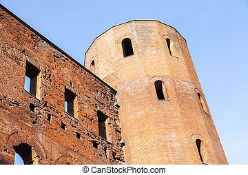 Porta Palatina - Palatine Towers in Turin Turin, Piedmont,...
